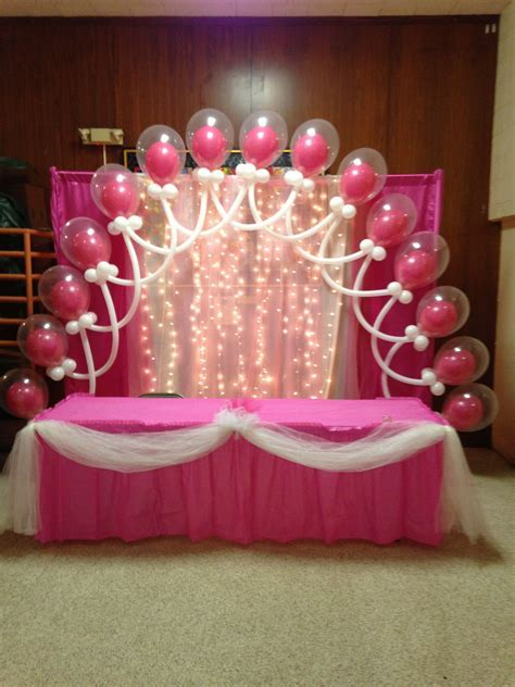 Double Bubble Latex Balloon Arch, tulle and lights