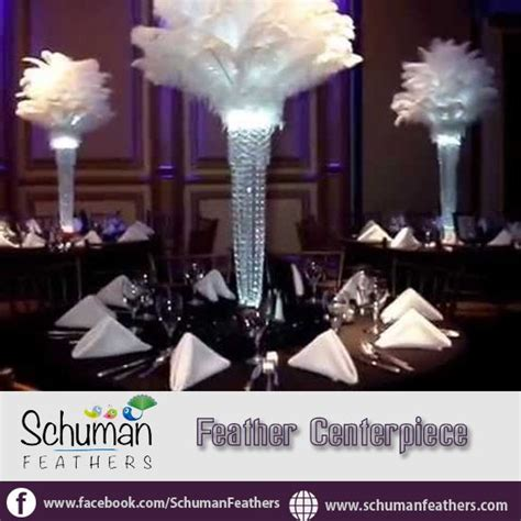 Feathercenterpieces Hottest Decoration Trend In Today S Ostrich Feather Centerpiece Rental