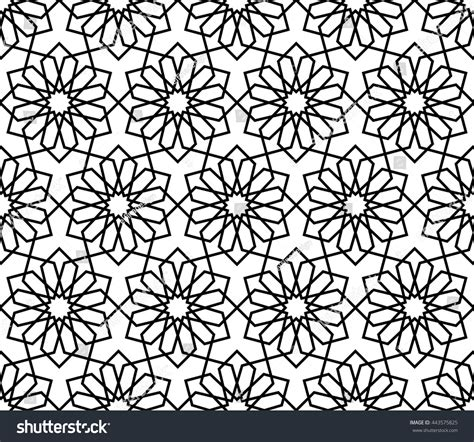 abstract arabic pattern islamic pattern abstract geometric pattern vector stock