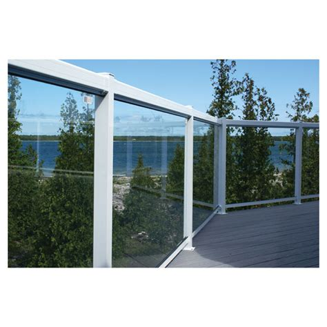Tempered Glass Railing regal aluminum tempered glass railing panel 24 quot r 233 no d 233 p 244 t