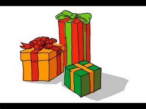christmas drawing step by step and gift to gift cartoon how to draw presents