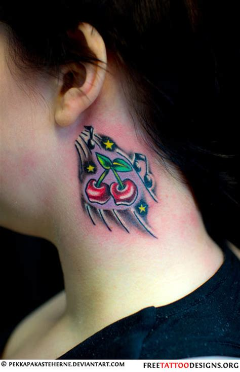 lips tattoo behind the ear meaning 55 cherry tattoo designs their hidden meaning