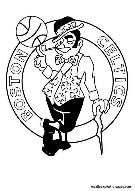 nba boston celtics logo coloring pages