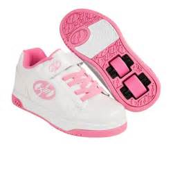 heelys shoes heelys dual up shoes white pink free uk delivery on