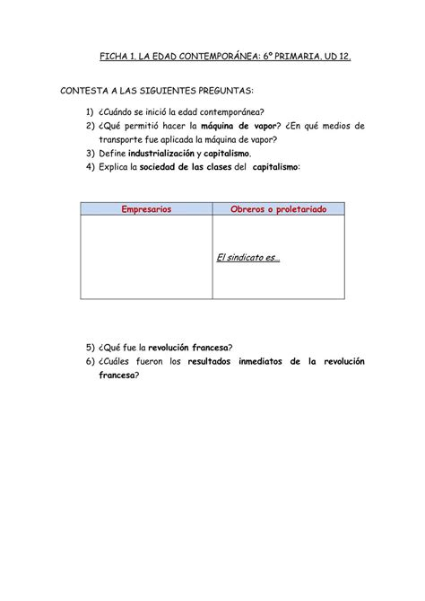 preguntas revolucion francesa calam 233 o ficha preguntas 1 ud 12 c medio 6 186 la edad