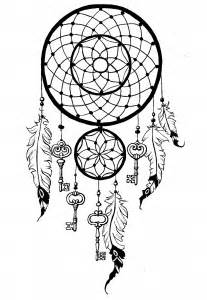 dreamcatcher coloring pages  adults justcolor