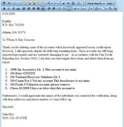 Free Credit Repair Letters Templates by Dispute Letter Generator Software For Credit Repair