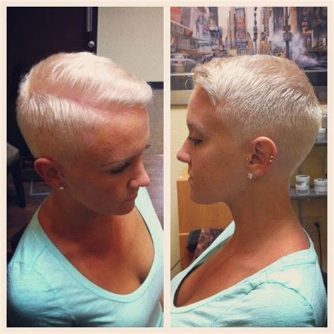 woman cuts hair with fork and clippers women buzz cuts close clippers great girl braves the