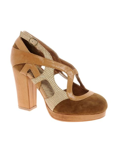 shelly shoes shellys carousel leather shoe