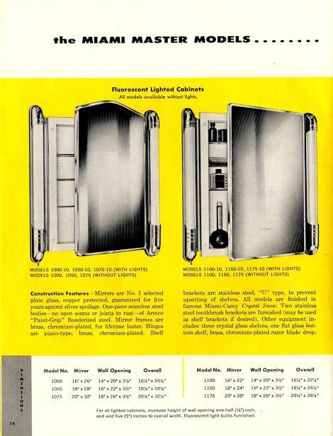 miami carey medicine cabinet 42 vintage medicine cabinets from miami carey circa 1955