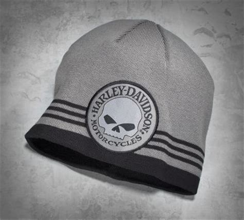 Sweater Harley Davidson Edge skull patch knit hat other knit hats and skulls