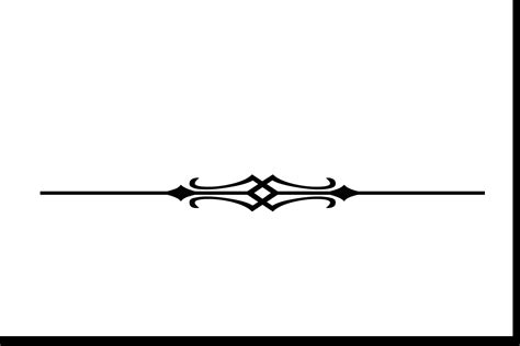 Decorated Line by Single Line Border Clipart Clipartsgram
