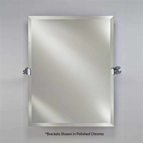 tilting bathroom mirror polished nickel afina 22 quot x 16 quot radiance tilt wall mount mirror polished