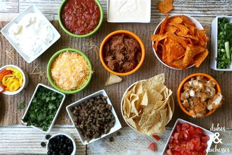 Toppings For Nacho Bar by Easy Nacho Bar Dukes And Duchesses