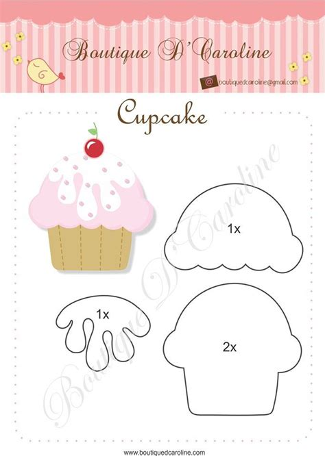 best 25 cupcake template ideas on pinterest felt