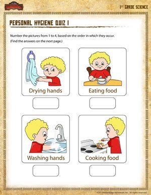 printable worksheets for personal hygiene personal