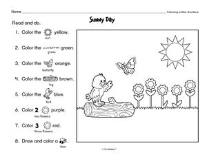 printable written directions results for following directions worksheet guest the