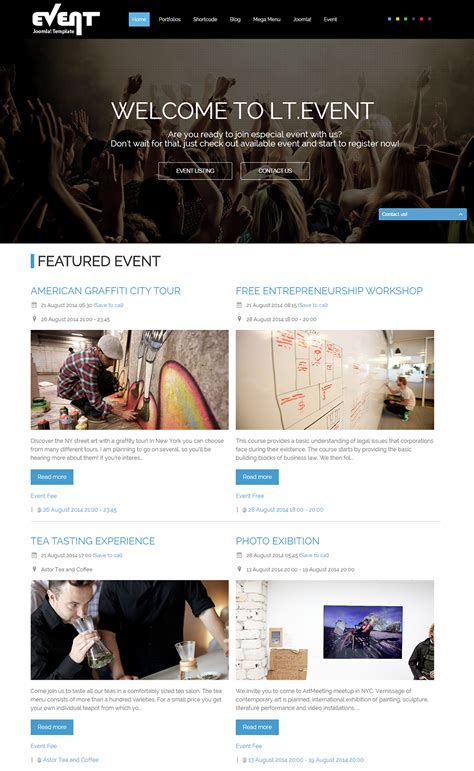 Event Management Joomla Website Templates Themes Free Premium Free Premium Templates Event Management Website Templates