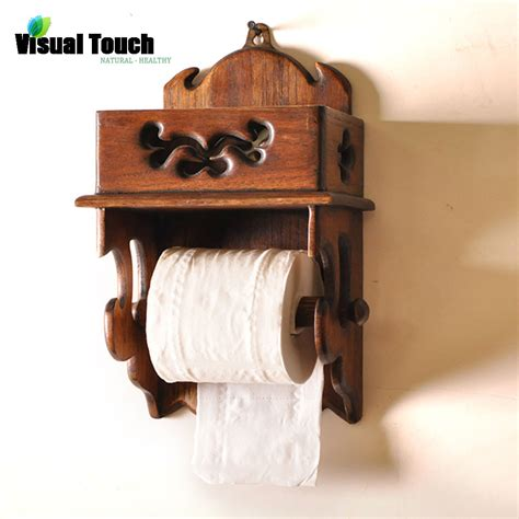 toilet paper shelf visual touch thailand wood wooden toilet paper holder wall