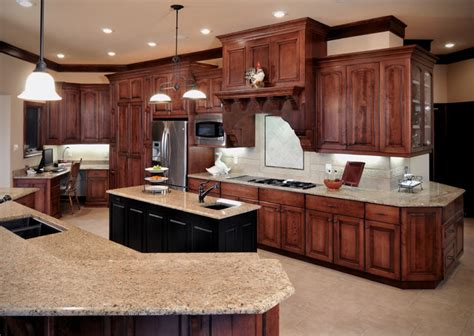 kitchen cabinets cherry finish birch cabinetry with cherry stain finish traditional