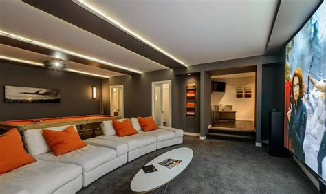 home theater room casual luxury