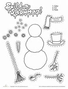 Build a snowman worksheet education com