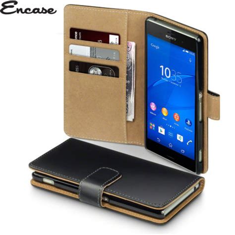 Casing Sony Xperia Z3 Original Cina encase leather style sony xperia z3 wallet black reviews mobilezap australia