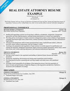 Sle Real Estate Resume Cover Letter Real Estate Attorney Resume Exle Career Ladder