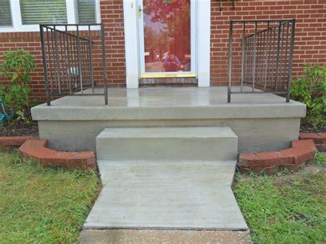Cement Porch poured concrete porch