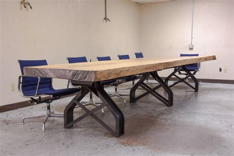 Live Edge Conference Table Rouille Live Edge Conference Table Vintage Industrial Furniture