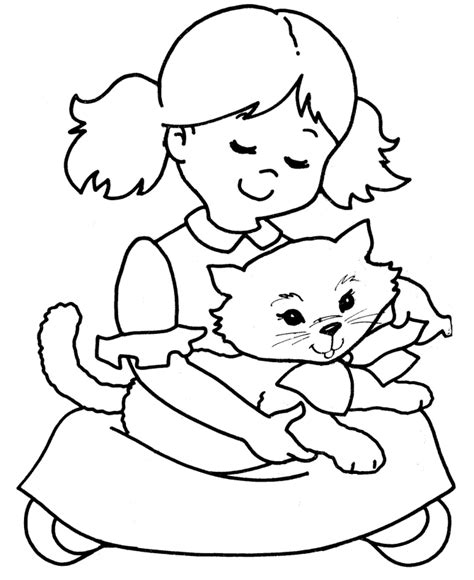 cat coloring page pdf print a cat on his owner lap coloring page download a