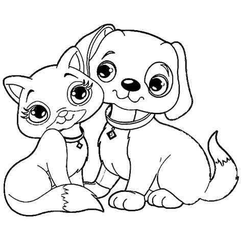 coloring pages with dogs and cats puppy coloring page wecoloringpage