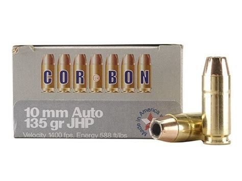 cor bon self defense ammo 10mm auto 135 grain jacketed