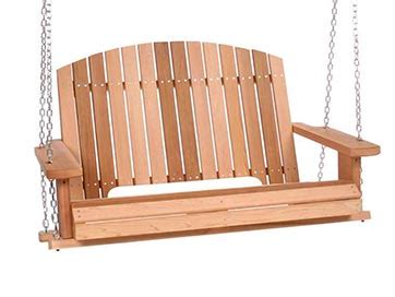 swing and things all things cedar pergola swing ps50 all things cedar