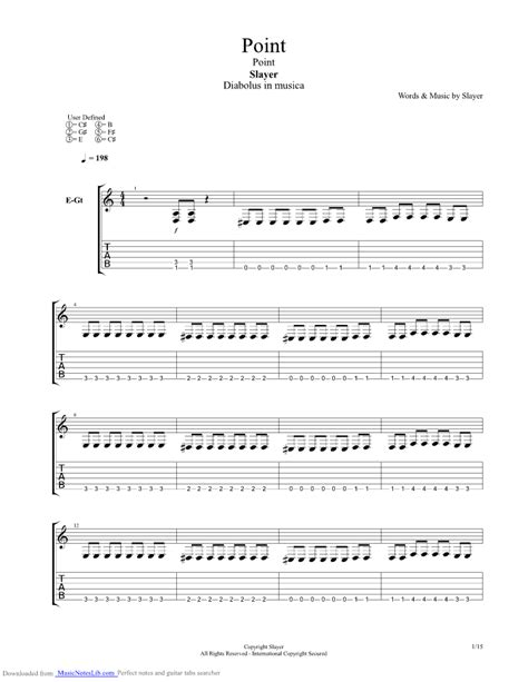 Point guitar pro tab by Slayer @ musicnoteslib.com