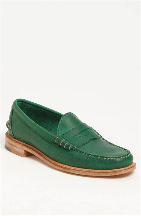 green mens loafers walk martin loafer in green for