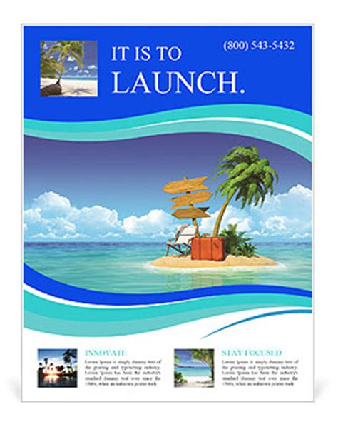 island brochure template island voucher bags flyer template design id