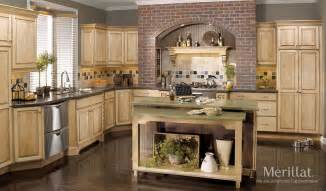 Classic Kitchen Cabinets by Merillat Classic 174 Somerton Hill In Maple Natural With Java