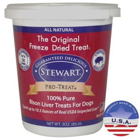liver treats for dogs stewart 174 pro treat 174 freeze dried bison liver treats for dogs 3 ounce tub