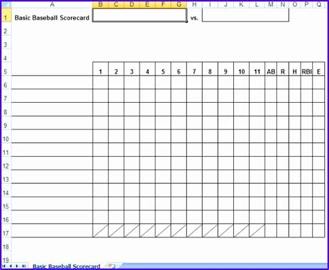 Lineup Card Excel Template by 12 Baseball Lineup Excel Template Exceltemplates