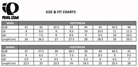 bike shoes size chart pearl izumi shoe size style guru fashion glitz