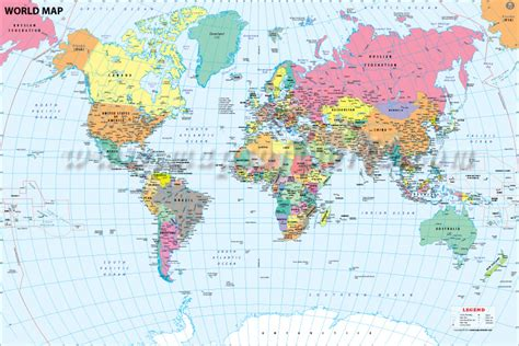 world map of cities and countries buy world map with major cities