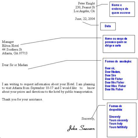 modelos de cartas em ingl 234 s 1 carta formal
