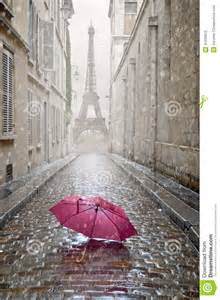 Home Design 2d And 3d romantic alley on a rainy day stock illustration image