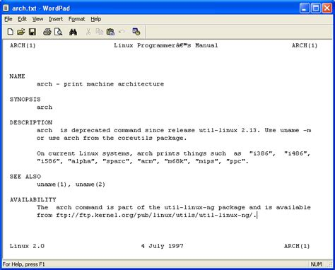 file format linux command convert linux manual man page to text file linux
