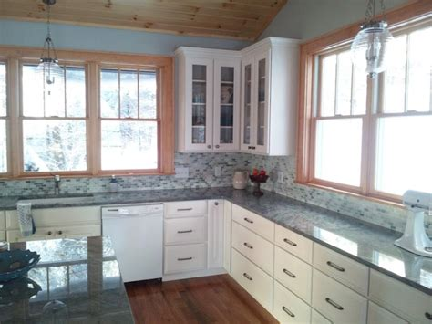 white kitchen cabinets  stained trim kitchens forum