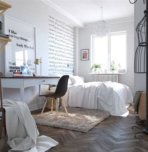 Teenage Room Scandinavian Style | scandinavian bedrooms ideas and inspiration