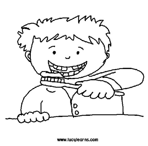 Interesting In Science Science For Year 3 Good Health Teeth Brushing Coloring Pages