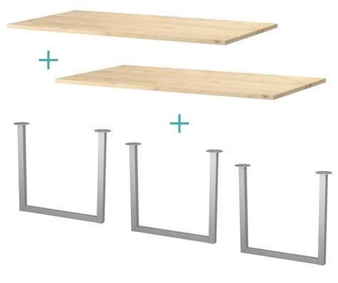 diy u shaped table legs my desk green notebook