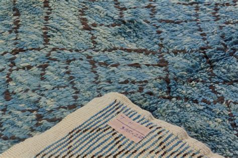 indigo blue rug contemporary moroccan wool rug in indigo blue for sale at 1stdibs